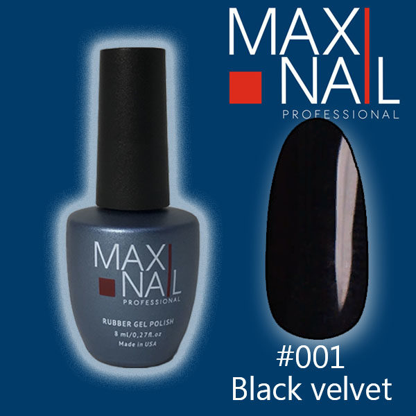Гель-лак MaxiNail rubber gel polish #001 8 ml