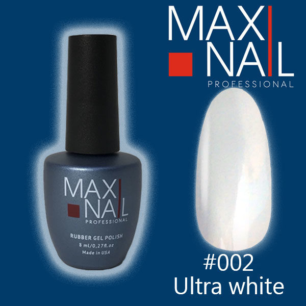 Гель-лак MaxiNail rubber gel polish #002 8 ml