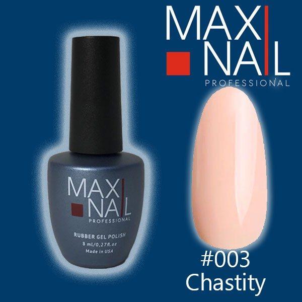 Гель-лак MaxiNail rubber gel polish #003 8 ml