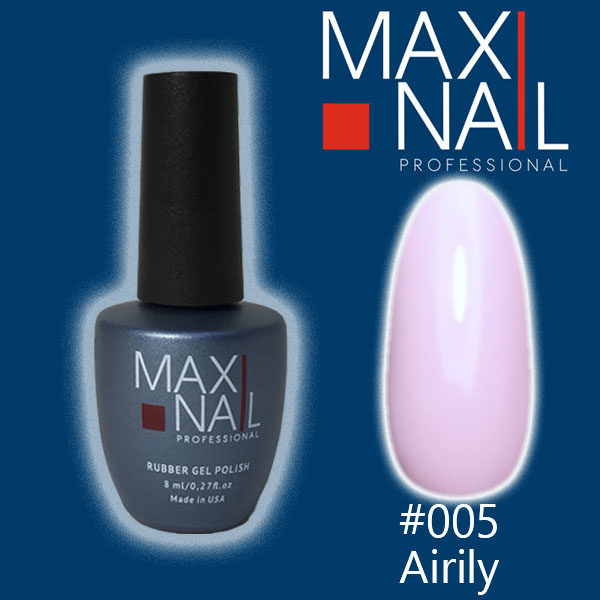 Гель-лак MaxiNail rubber gel polish #005 8 ml