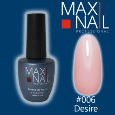 Гель-лак MaxiNail rubber gel polish #006 8 ml