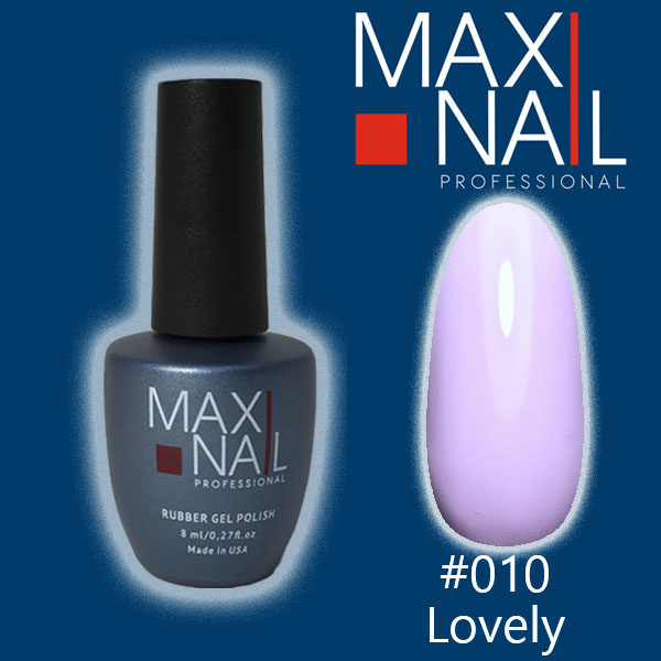 Гель-лак MaxiNail rubber gel polish #010 8 ml