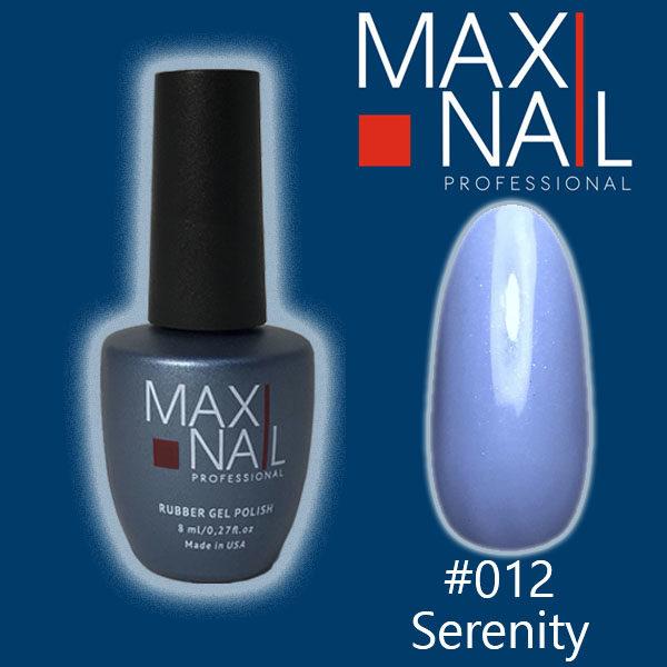 Гель-лак MaxiNail rubber gel polish #012 8 ml