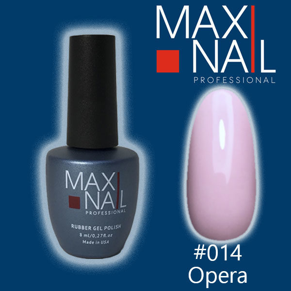 Гель-лак MaxiNail rubber gel polish #014 8 ml
