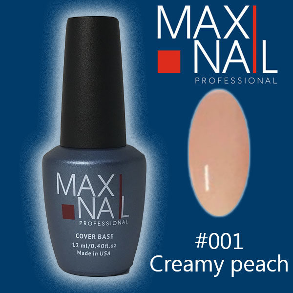 База MaxiNail Rubber Cover Base Creamy #001 12 ml