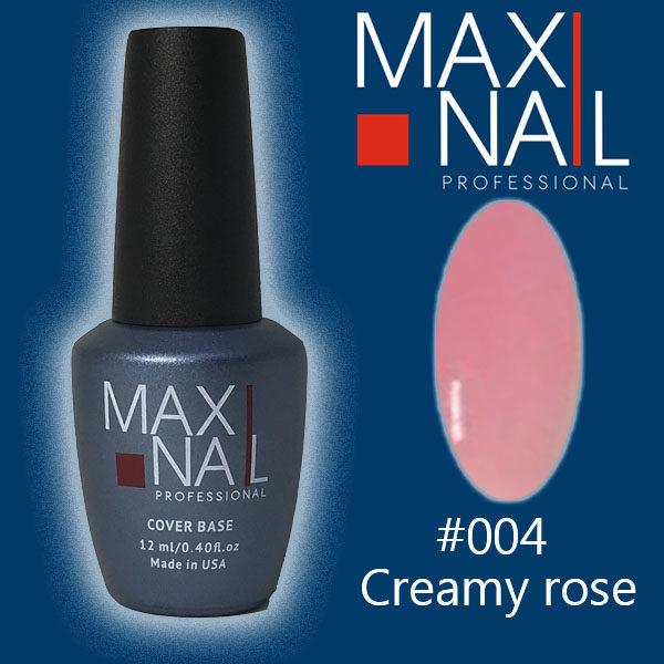 База MaxiNail Rubber Cover Base Creamy #004 12 ml