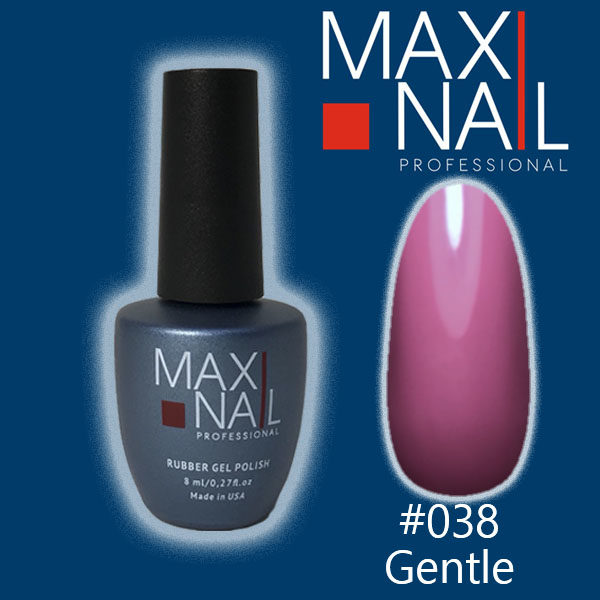 Гель-лак MaxiNail rubber gel polish #038 8 ml
