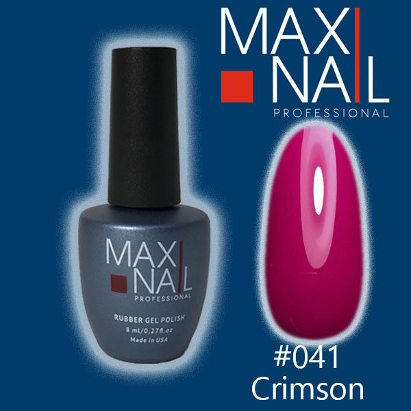 Гель-лак MaxiNail rubber gel polish #041 8 ml