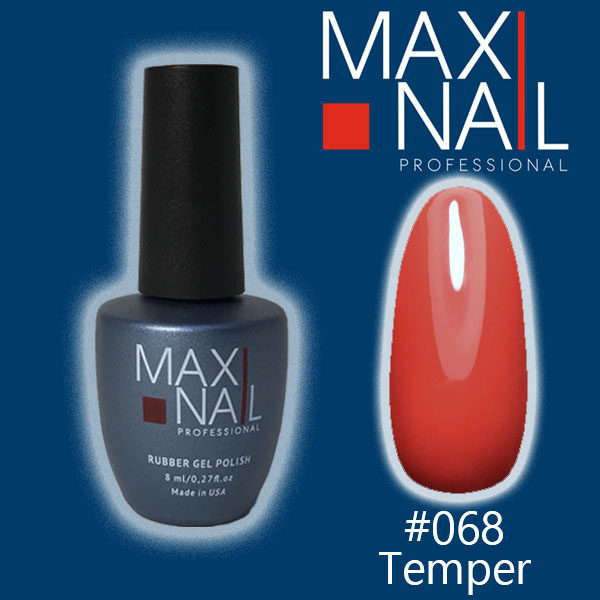 Коралловый гель-лак MaxiNail rubber gel polish #068 8 ml