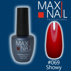 Гель-лак алый MaxiNail rubber gel polish #069 8 ml