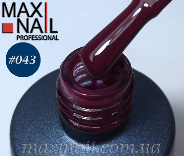 Гель-лак MaxiNail rubber gel polish #043 8 ml