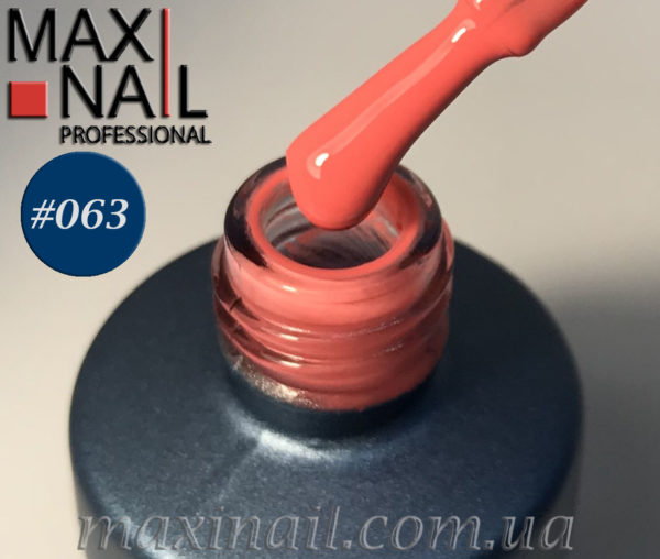 Гель-лак MaxiNail rubber gel polish #063 8 ml
