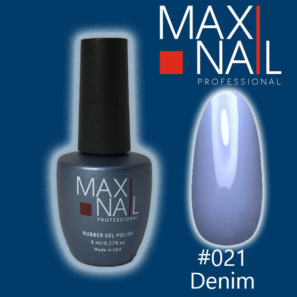 Гель-лак MaxiNail rubber gel polish #021 8 ml