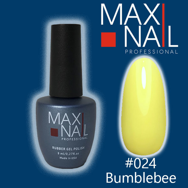 Гель-лак MaxiNail rubber gel polish #024 8 ml