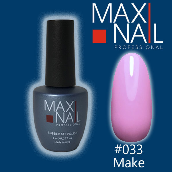 Гель-лак MaxiNail rubber gel polish #033 8 ml
