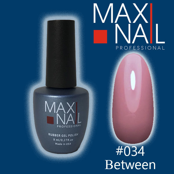 Гель-лак MaxiNail rubber gel polish #034 8 ml