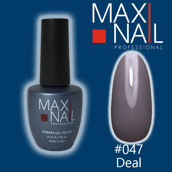 Гель-лак MaxiNail rubber gel polish #047 8 ml