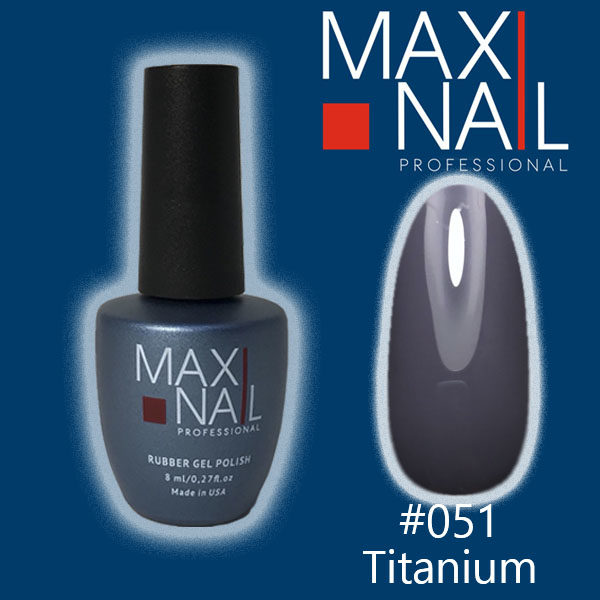 Гель-лак MaxiNail rubber gel polish #051 8 ml