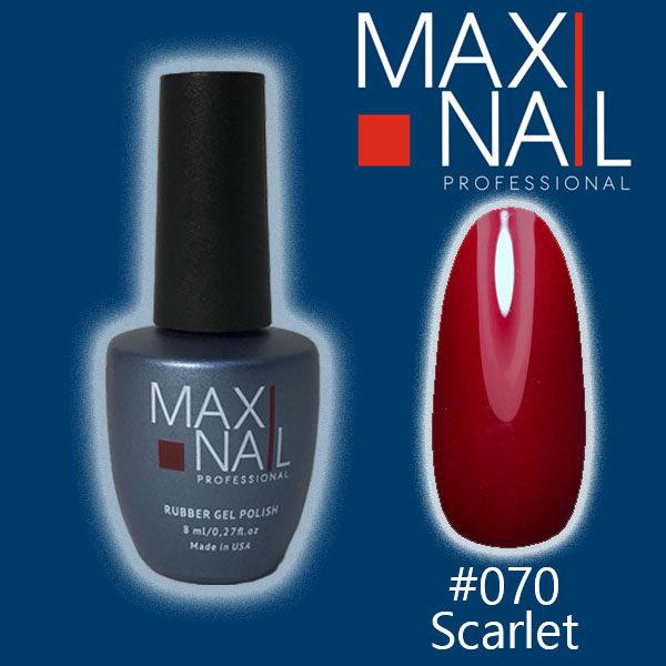 Гель-лак MaxiNail rubber gel polish #070 8 ml
