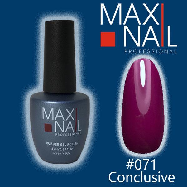Гель-лак MaxiNail rubber gel polish #071 8 ml