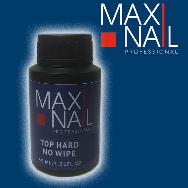 Топ без липкого слоя MaxiNail Top Hard no wipe 30 ml