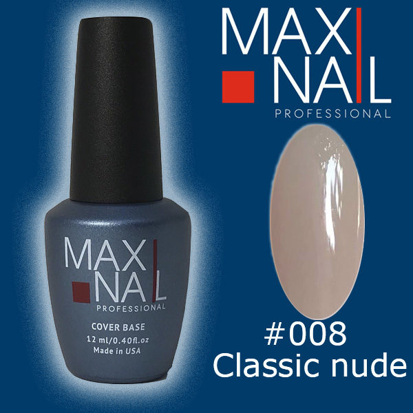 База MaxiNail Rubber Cover Base Nude #008 12 ml