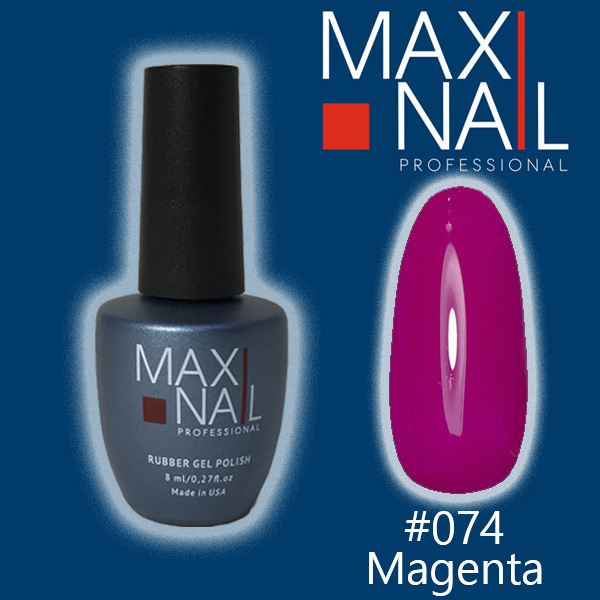 Гель-лак MaxiNail rubber gel polish #074 8 ml