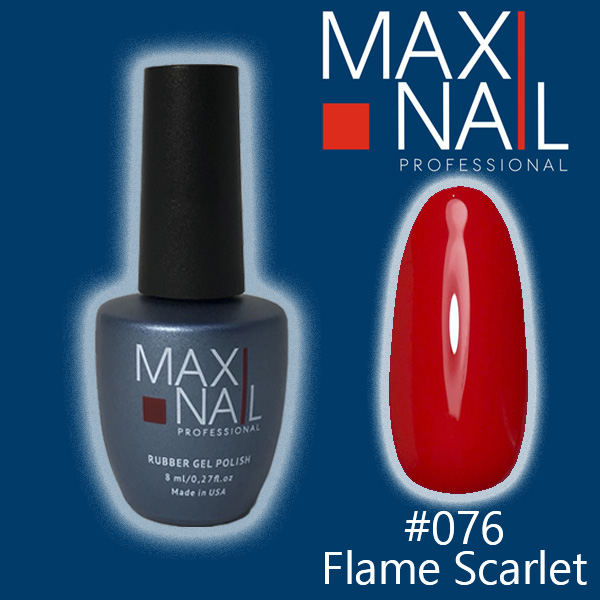 Гель-лак MaxiNail rubber gel polish #076 8 ml