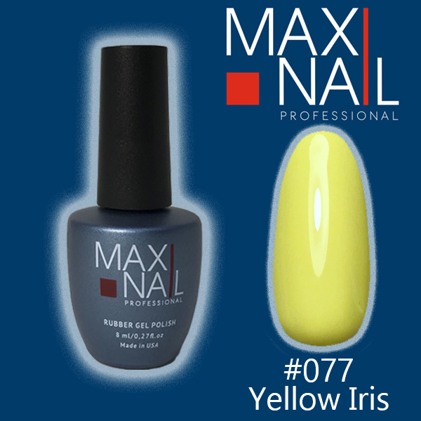 Гель-лак MaxiNail rubber gel polish #077 8 ml